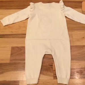GAP One Pieces - Baby Gap 3-6 M Girls Red Bow Ivory Sweater Romper